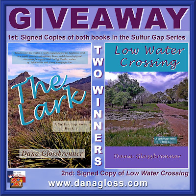 Low Water Crossing tour giveaway graphic. Prizes to be awarded precede this image in the post text.
