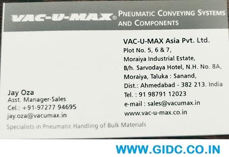 VAC U MAX ASIA PVT LTD 97277 94695 | 9727794695