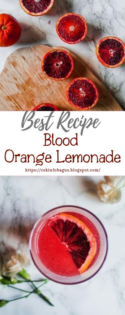 Blood Orange Lemonade #healthydrink #easyrecipe