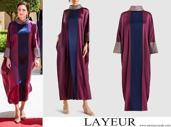Queen Rania wore Layeur (The Modist) Silk Seraphima Dress