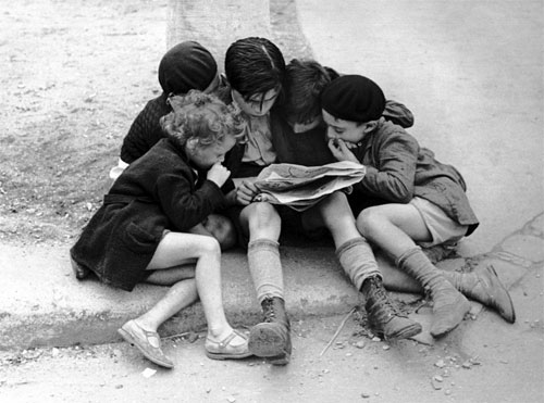 Children Reading the Newspaper, 1936
