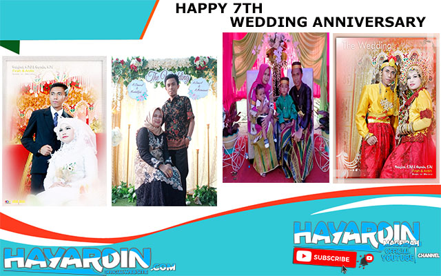 Happy 7th Wedding Anniversary