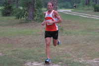 Vince Molosky (1st, 22:57) less than a mile from his victorious finish in the 2011 Potluck Four Mile.