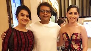 amrita subhash, sonali kulkarni and akshar kothari at film 'parinati' promotion