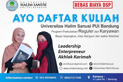 Universitas Halim Sanusi PUI Bandung Menerima Pendaftaran Mahasiswa Karyawan