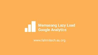 cara memasang lazyload google analytics