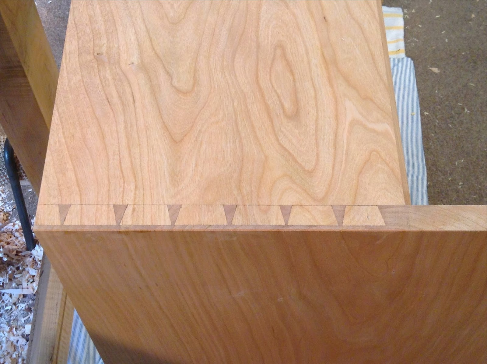 custom desk with dovetail joinery