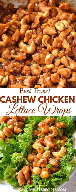 best ever asian cashew chicken lettuce wraps