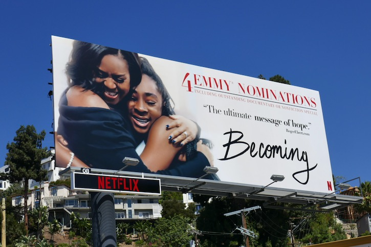 Michelle Obama Becoming Emmy nominee billboard