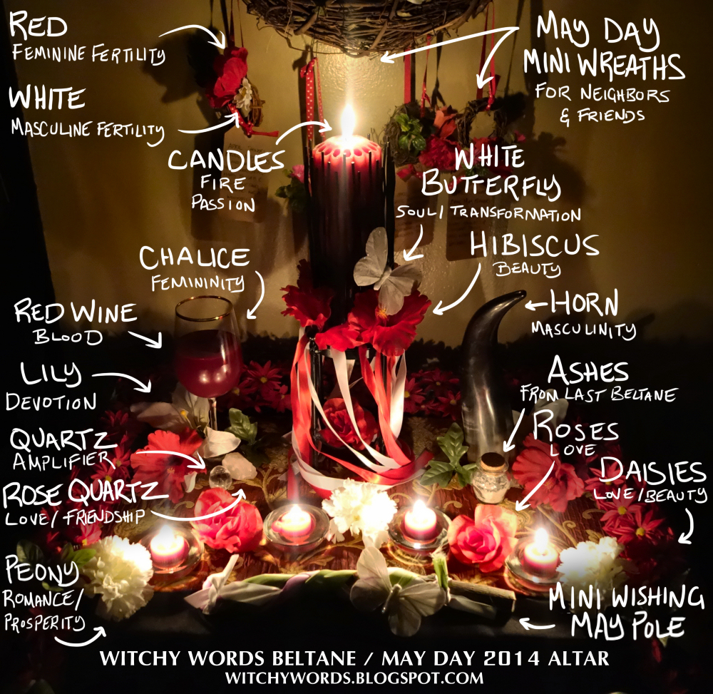 Witchy Words Witchy Words Beltane May Day 2014 Altar
