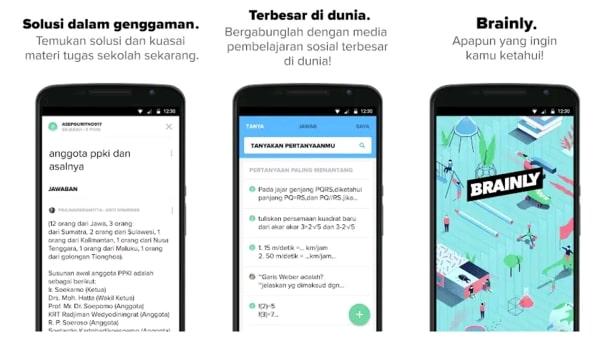 Brainly adalah aplikasi belajar secara online terbaik