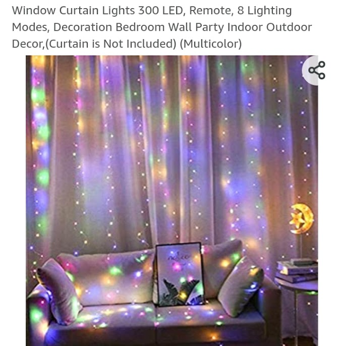 On Sale!!! Window Curtain Lights 300 LED, Remote, 8 Lighting Modes