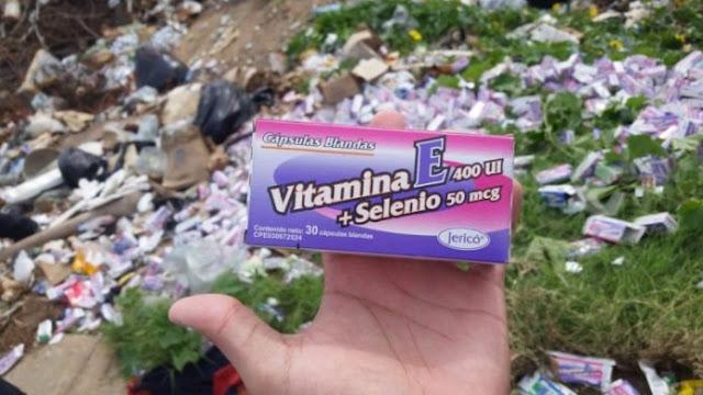 Hallaron cientos de medicamentos en un basurero de Maracaibo