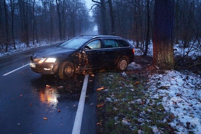 Unfall auf der L141: Skoda streift Baum