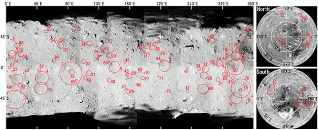 Impact crater data analysis of Ryugu asteroid illuminates complicated geological history