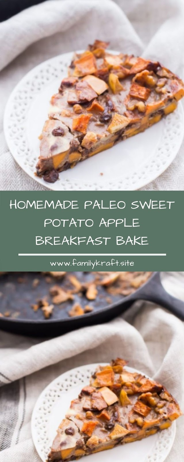 HOMEMADE PALEO SWEET POTATO APPLE BREAKFAST BAKE