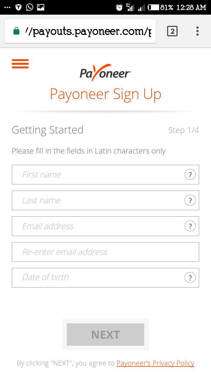 Registered payooner