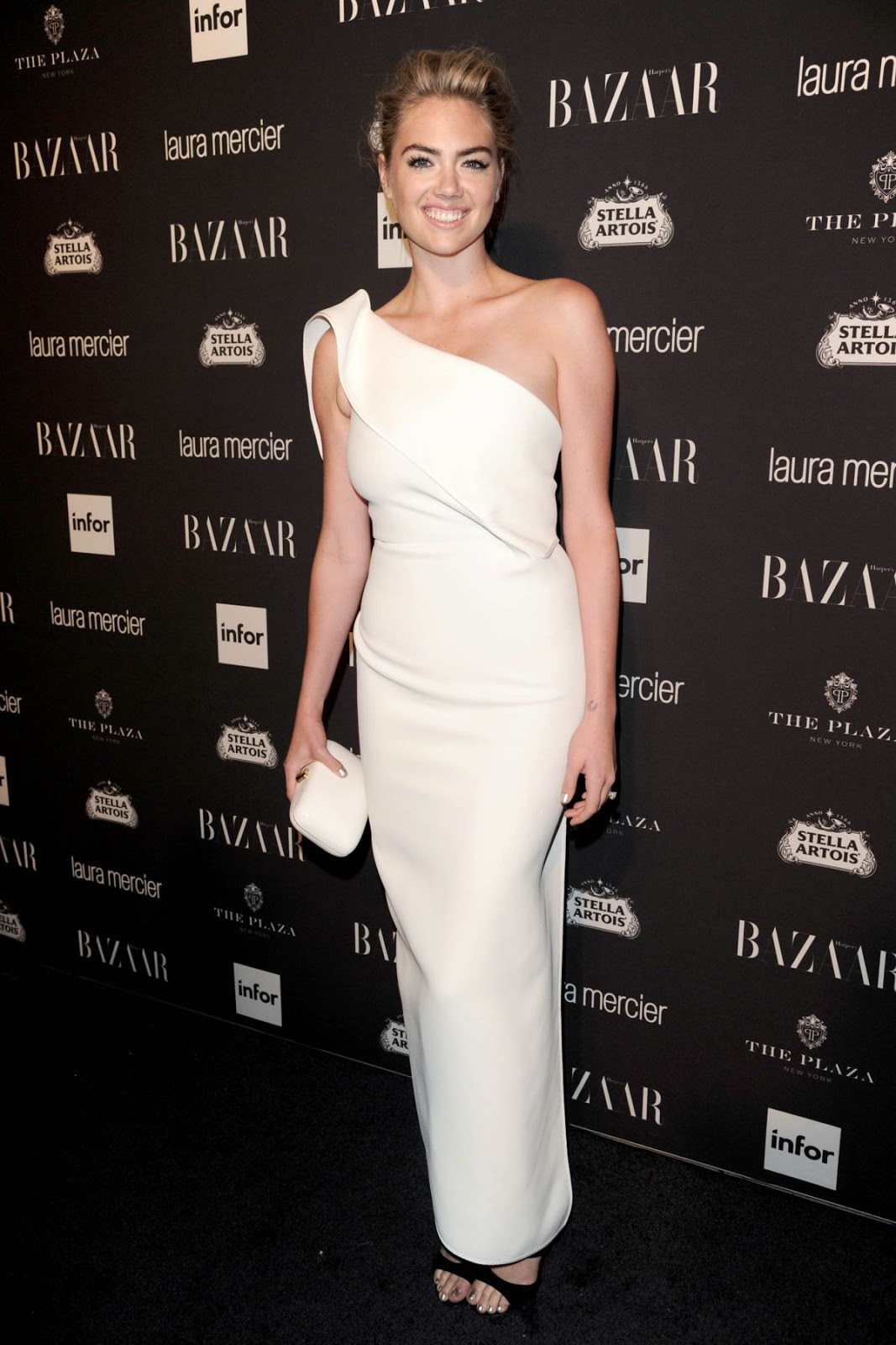 HQ Photos of Kate Upton in white dress At Harper's Bazaar Celebrates Icons By Carine Roitfeld, NYC