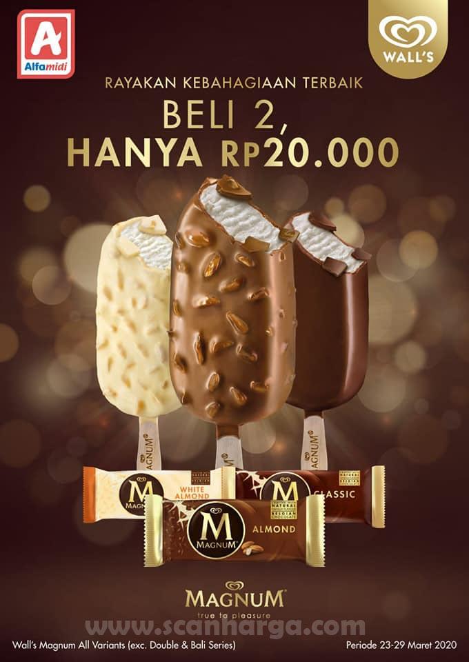 Alfamidi Promo Magnum Walls Beli 2 Hanya Rp 20 000 Periode 23 29 Maret 2020 Scanharga