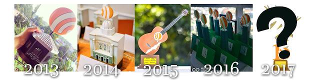 Evolution of Best Cebu Blogs Awards Trophy Designs From 2013 to 2017