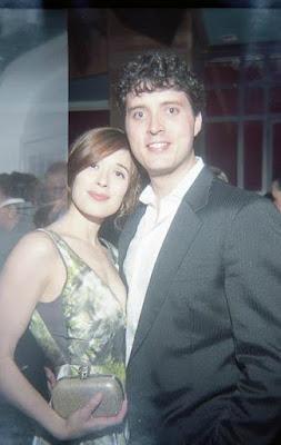 Eli Kay-Oliphant with his wife Marina