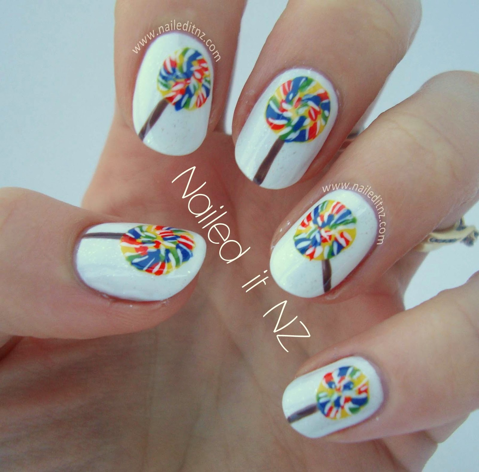 Cool Nail Art: Lollipop Nail Art