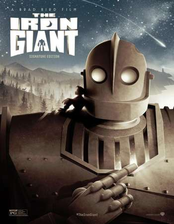Poster Of The Iron Giant 1999 Dual Audio 720p  [Hindi - English] Free Download Watch Online 300mb.cc