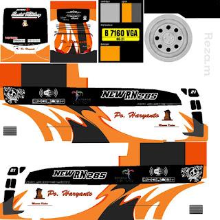 Download Livery Bus Po Haryanto Orange