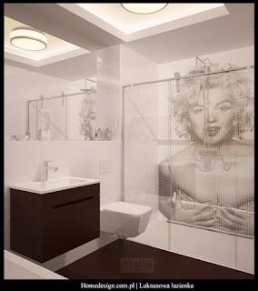 ekskluzywna łazienka - płytki z nadrukiem komputerowym