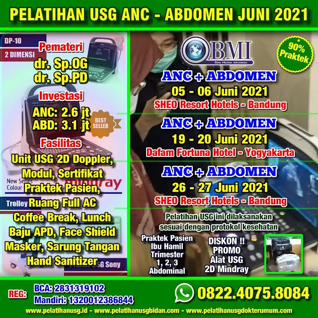 Pelatihan USG Bandung 2021