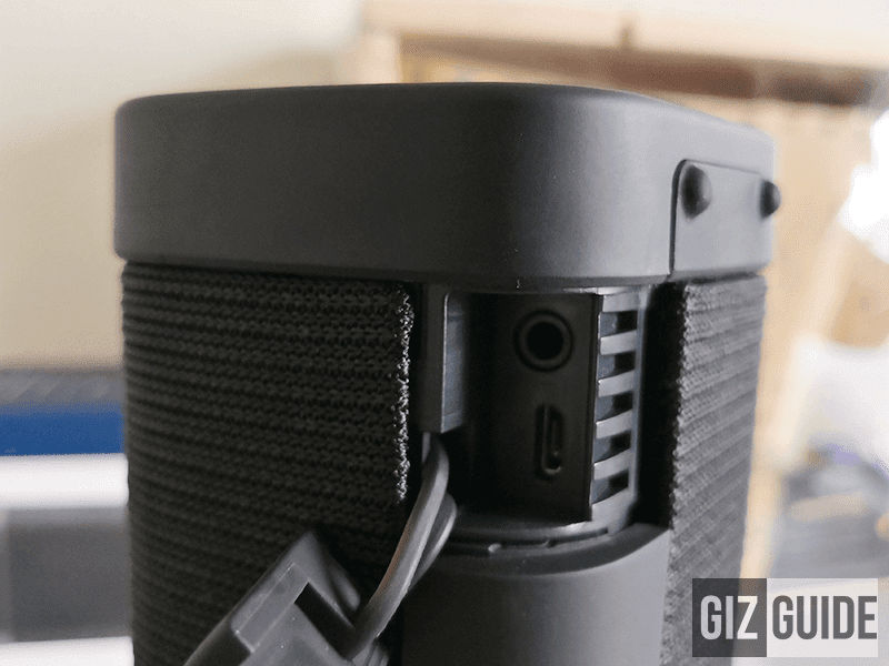 Headphone jack and micro USB slots