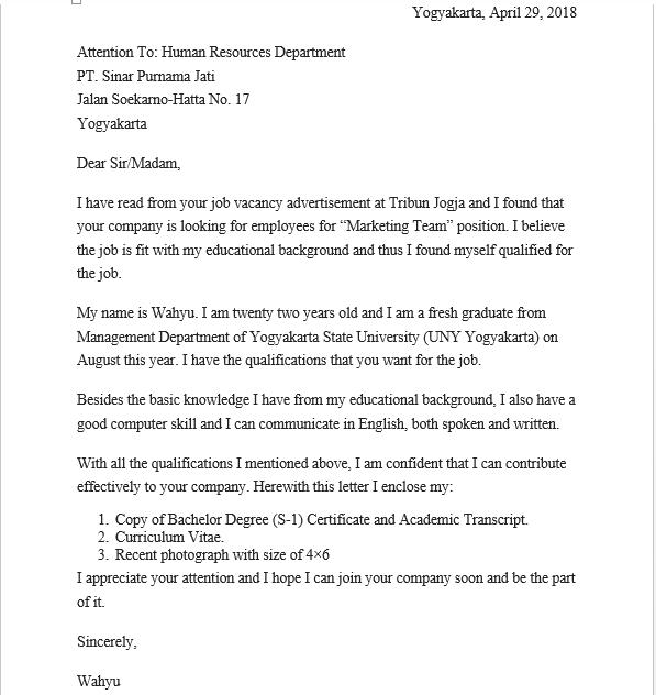 Download Surat Lamaran Kerja Bahasa Inggris Pdf Lengkap Dengan Terjemahnya Triprofik Com