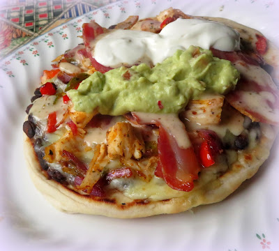 Mexican Chicken Club Flatbread