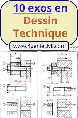 exercices corrigées en dessin industriel