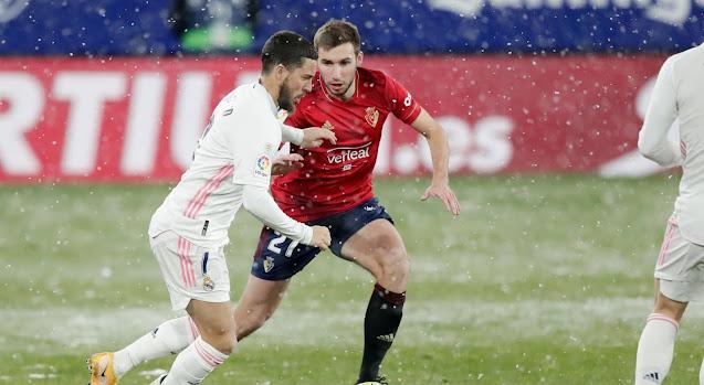ملخص مباراة   ريال مدريد وأوساسونا (0-0) في الدوري الاسباني