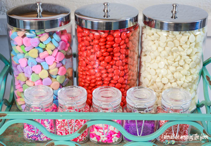 Valentine's Candy and Decor