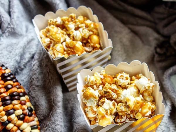 Pop corn au caramel au beurre + idées film/séries Halloween