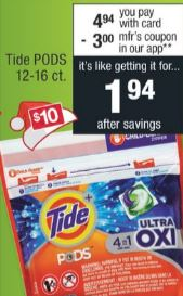 Tide PODS Deal CVS