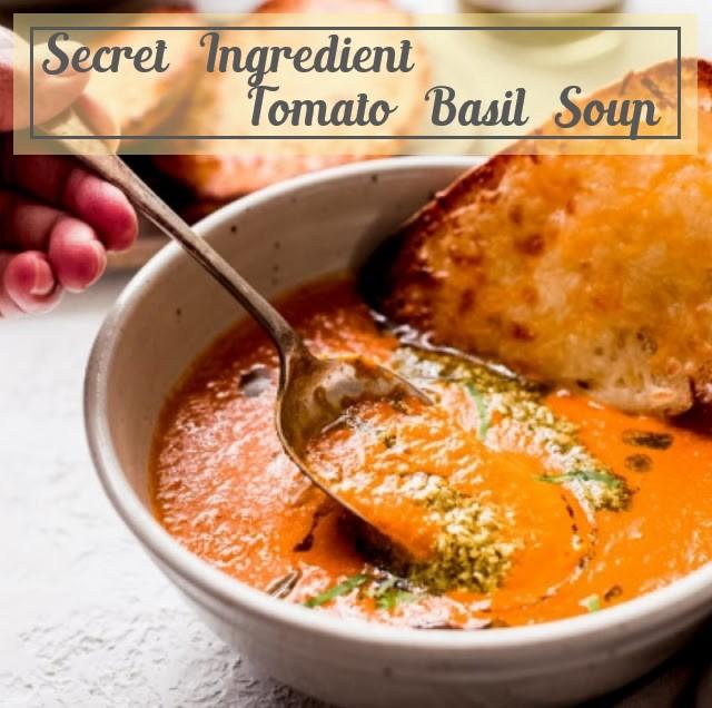 Secret Ingredient Tomato Basil Soup