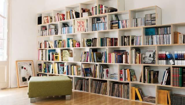 reutilizar caixotes de madeira estnte livros sala