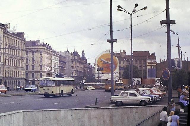 1980-81-е годы. Рига. Подземный переход на Привокзальной площади и улица Суворова