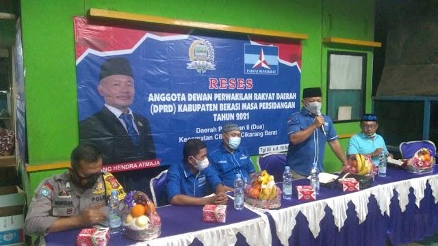 Jampang Hendra Atmaja Serap Aspirasi Masyarakat Desa Cibuntu