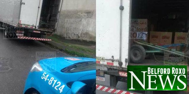 Polícia impede roubo de caminhão com carga de biscoito em Belford Roxo
