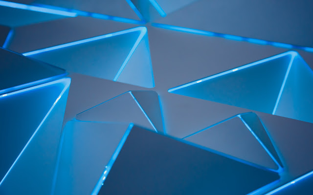 wallpaper 3d blue triangles wide