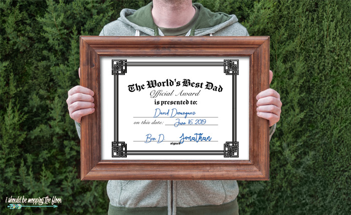 Free Printable Father's Day Certificates