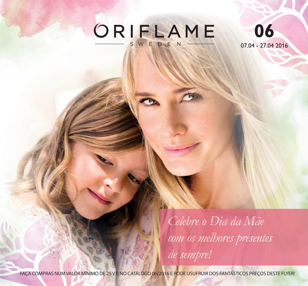 Flyer do Catálogo 06 de 2016 da Oriflame