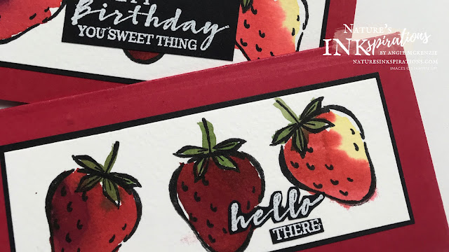 By Angie McKenzie for Global Creative Inkspirations; Click READ or VISIT to go to my blog for details! Featuring the Sweet Strawberry Bundle from the January - June 2021 Mini Catalog; #stampinup #handmadecards #naturesinkspirations #sweetstrawberry #occasioncards #thankyoucards #birthdaycards #minislimlinecards #sweetstrawberrystampset #strawberrybuilderpunch  #sweetstrawberrybundle #janjun2021minicatalog #cardtechniques #watercoloringwithinks #fussycutting #globalcreativeinkspirations #gcibloghop #makingotherssmileonecreationatatime