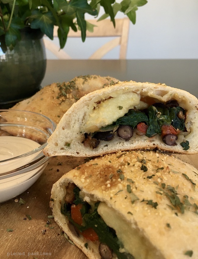 Vegan Veggie Calzone by Pieced Pastimes