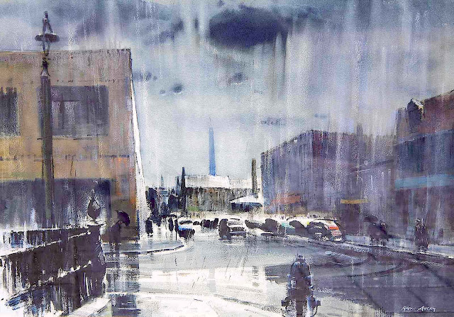 Ralph Avery watercolor rainstorm