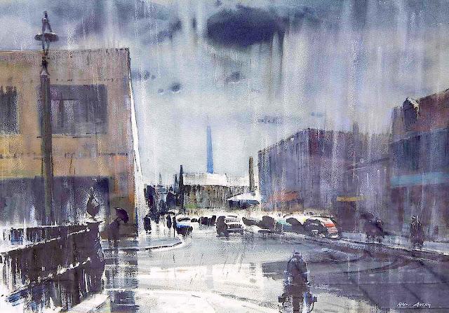 Ralph Avery watercolor rainstorm